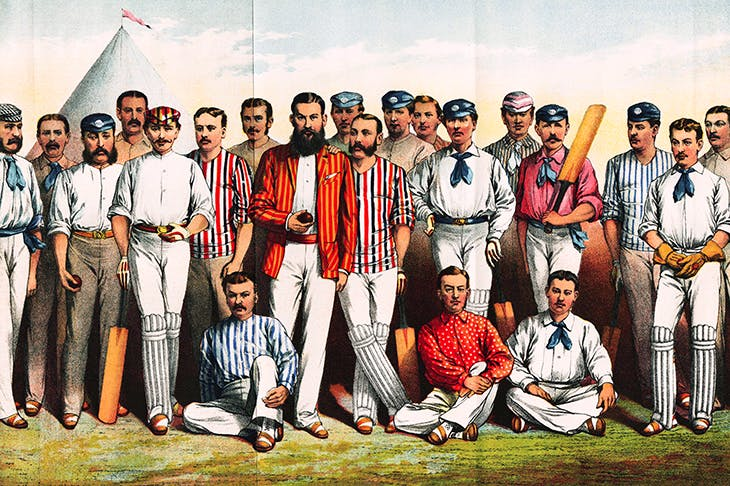 Famous cricketers of the 1880s include James Lilywhite (far left) and W.G. Grace (centre). Credit: Getty Images