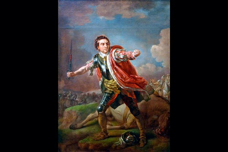 David Garrick in Shakespeare's Richard III, painted by Francis Hayman