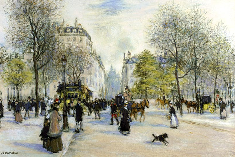 Jean-François Raffaelli's view of one of Haussmann's boulevards in 1900. Credit Getty Images