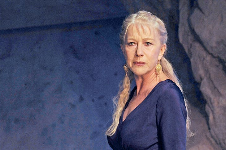 Helen Mirren in the title role of Phèdre, in the 2009 production at the National directed by Nicholas Hytner. 'I was honoured to be involved in the very first NT Live broadcast,' she writes in her foreword to Dramatic Exchanges. 'Suddenly we were performing to many thousands of people'