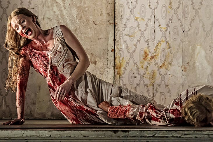 Hrachuhi Bassenz as Amelia Grimaldi in Elijah Moshinsky's Boccanegra for the Royal Opera. Photo: Clive Barda
