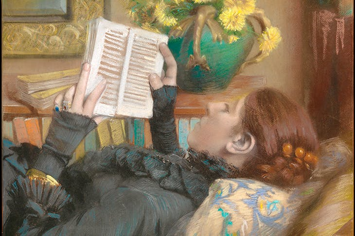 'The Artist's Wife Reading' by Albert Bartholomé, 1883. From Books Do Furnish a Painting