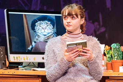 Maisie Williams as Caroline in the breathtaking new play 'I and You' at Hampstead Theatre. Photo: Manuel Harlan