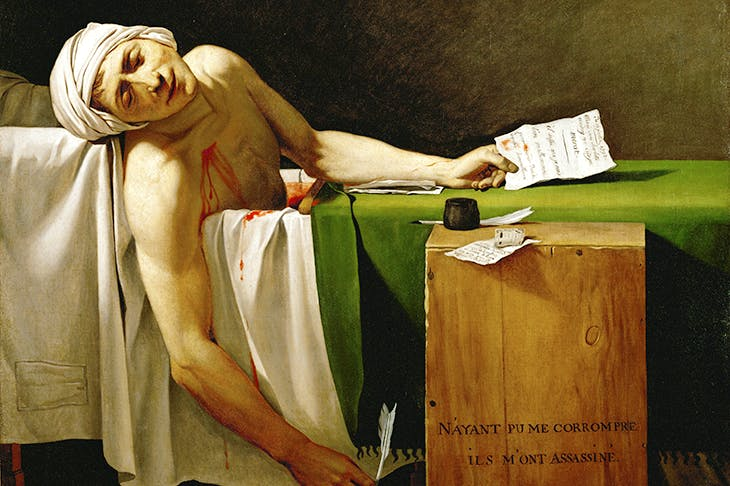 Marat was assassinated in his bath by Charlotte Corday in 1793. Credit Getty Images
