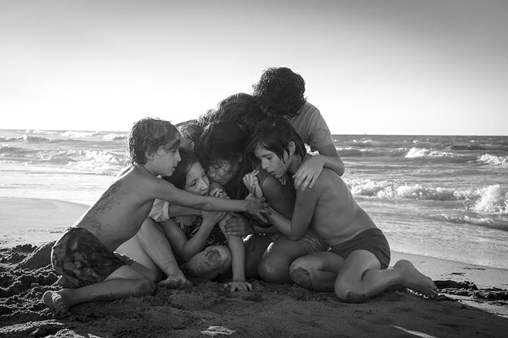 Nothing much happens, yet there is so much to watch: Alfonso Cuaron's Roma. [Photograph: Carlos Somonte/Netflix]