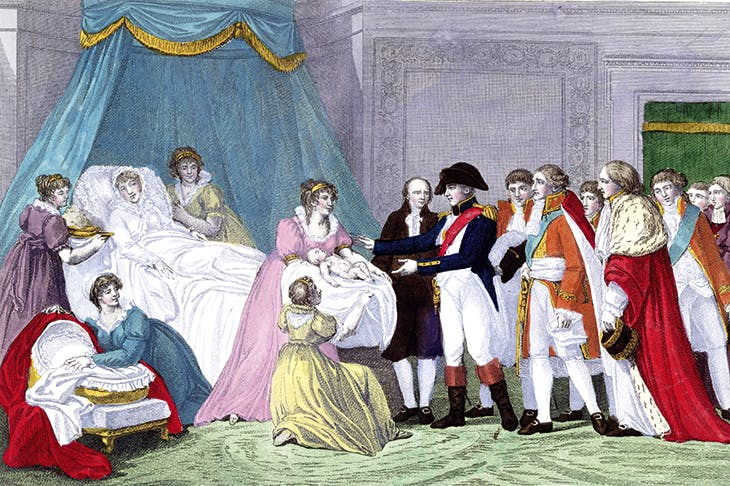 The Empress Marie-Louise of Austria giving birth to the King of Rome in 1811