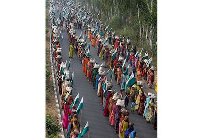 : In 2007, thousands of India's poorest marched on Delhi to petition for land rights.