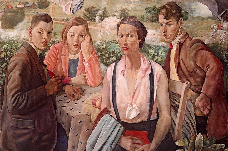 'A Portrait Group' by James Cowie [National Galleries of Scotland/Bridgeman Images]