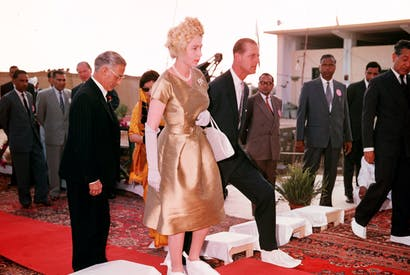 The Queen on a Royal Tour of Pakistan in 1961.