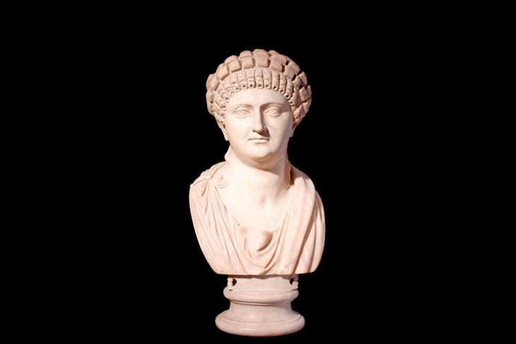Female statue head Villa Casali, Italy, 55-65 CE marble. © Trustees of the British Museum, 2018. All rights reserved.