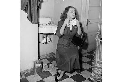 Fasten your seatbelts: Bette Davis in her dressing room during the filming of All About Eve