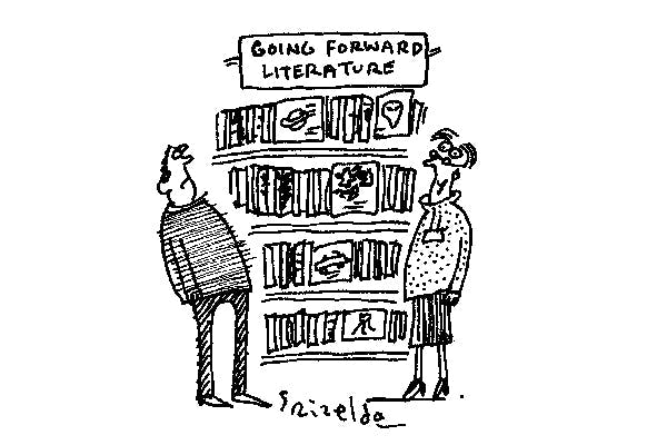 'We've renamed our science-fiction section.'