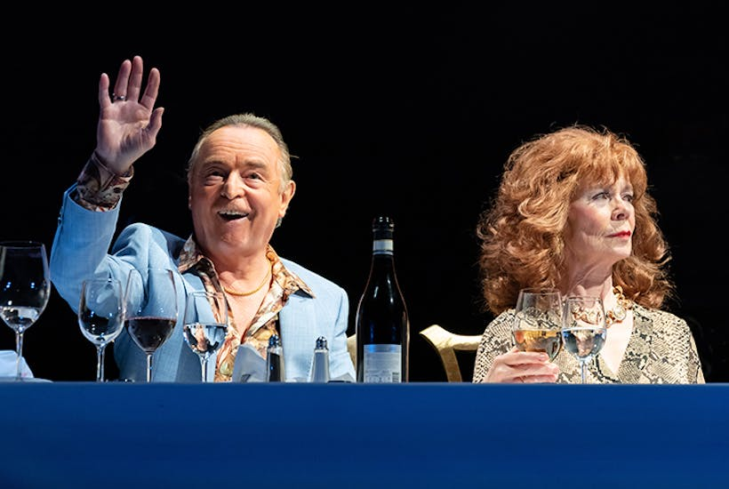 Ron Cook and Celia Imrie – who steals the show in Party Time – in Pinter Six. Photo: Marc Brenner