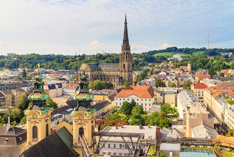 The Linz skyline