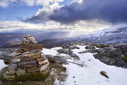 Cairn on Beinn Eighe in the Highlands