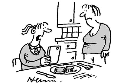 'I'm stockpiling my dinner in anticipation of the shortages ahead.'
