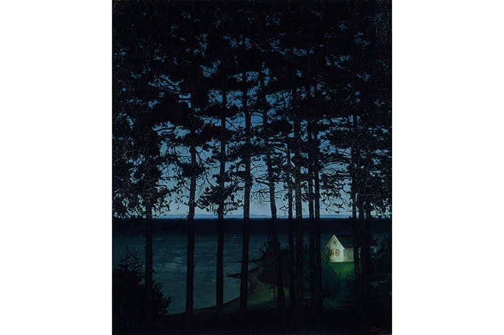 'The Fisherman's Cottage', 1906, by Harald Sohlberg