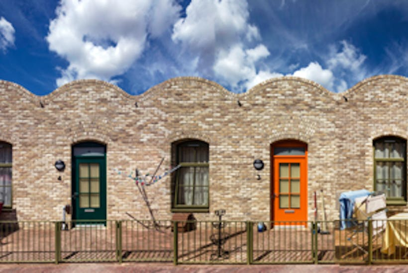 Polite postmodernism: Burbridge Close, Dagenham, by Peter Barber Architects is a recent housing development for the elderly that Roger Scruton approves of