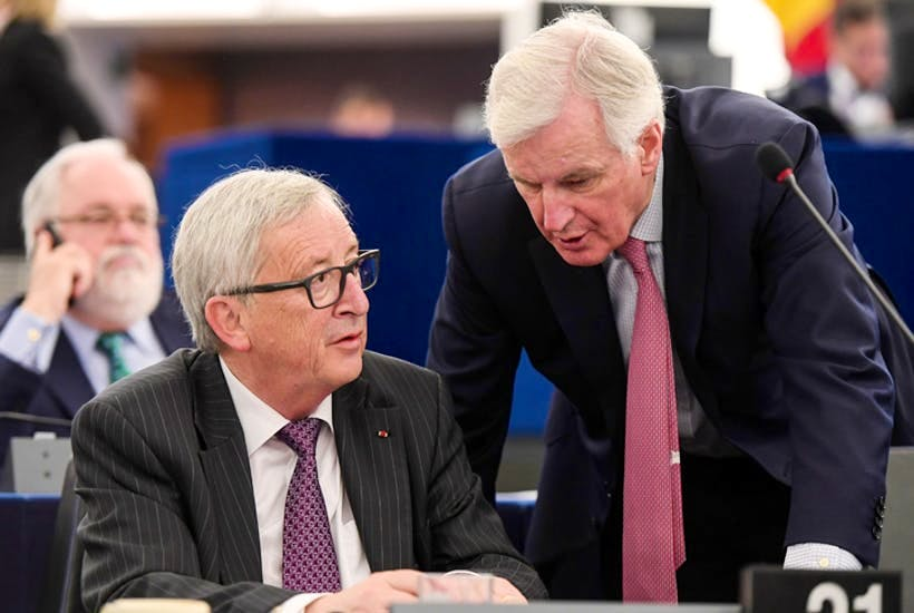 Jean-Claude Juncker and Michel Barnier must understand that without a deal their hard-border bluff collapses (Photo: Getty)