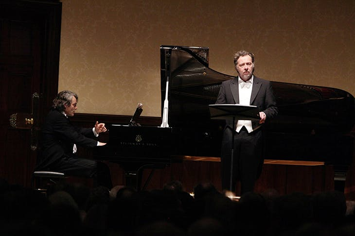 Christian Gerhaher and Gerold Huber at the piano in their 2016 Wigmore Hall recital. Photo: Amy T. Zielinski / Redferns