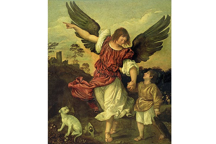 Tobias and the angel, attributed to Titian