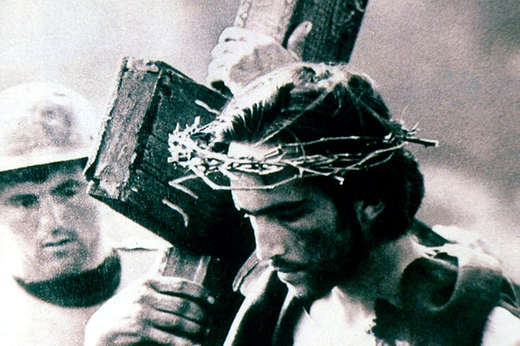 The road to Calvary: Enrique Irazoqui as Christ in Pier Paolo Pasolini's 1964 film The Gospel According to Matthew