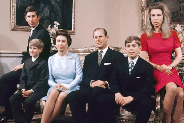 The Royals in 1972. Photo: Press Association