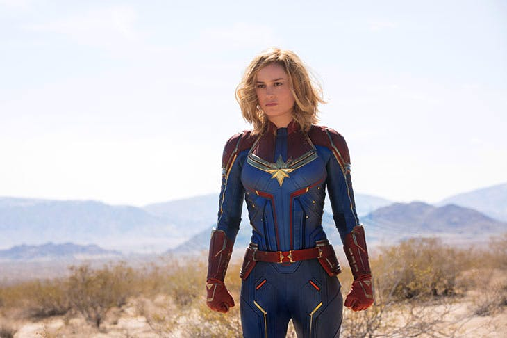 More than able to carry a film of this type: Brie Larson as Captain Marvel