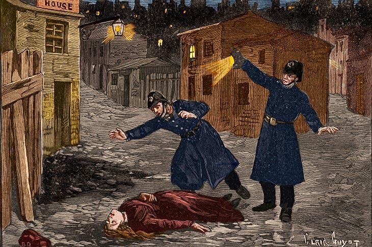 A fallen woman in a vicious world: Jack the Ripper's last victim, depicted in Le Petit Parisien