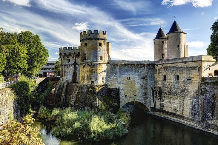 The Porte des Allemands in Metz, where France meets Germany and Luxembourg