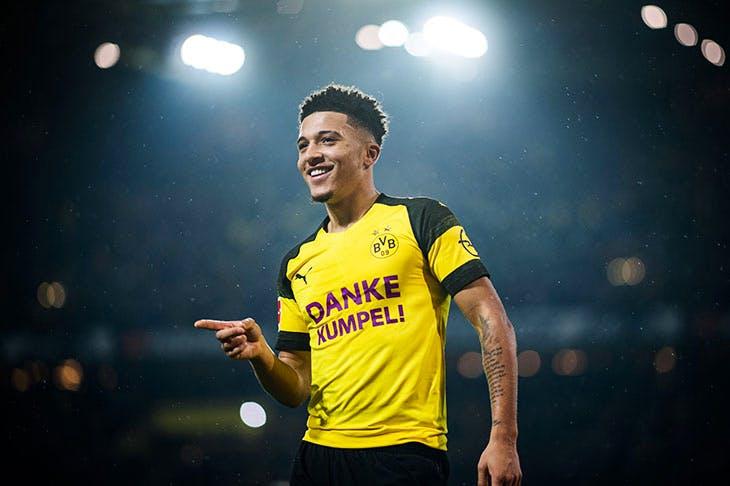 Jadon Sancho, Borussia Dortmund's star player (Lukas Schulze/Bundesliga/DFL via Getty Imag-es)
