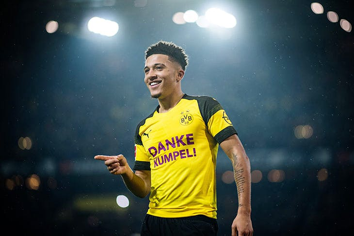 Jadon Sancho, Borussia Dortmund's star player (Lukas Schulze/Bundesliga/DFL via Getty Imag-es)