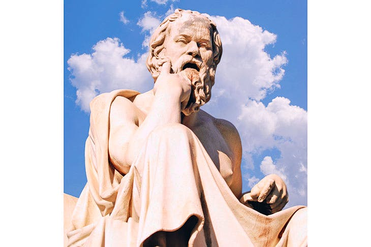 Statue of Socrates at the Academy of Athens