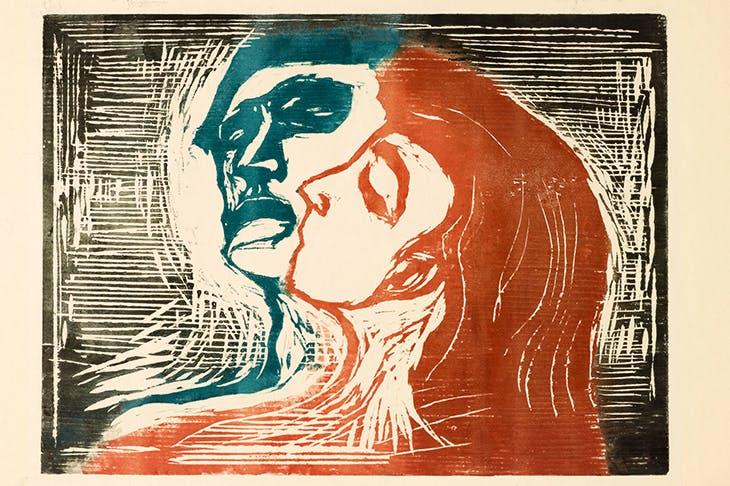 'Head by Head', 1905, by Edvard Munch