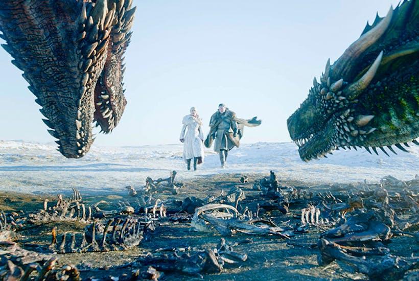 Daenerys Targaryen (Emilia Clarke) and Jon Snow (Kit Harington) having some quality time together
