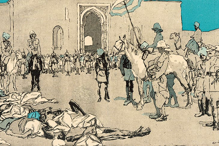 A drawing of the massacre by Eduard Thöny for the satirical German magazine Simplicissimus, January 1920
