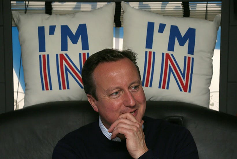 David Cameron campaigning on the day before the June 2016 referendum (Getty)