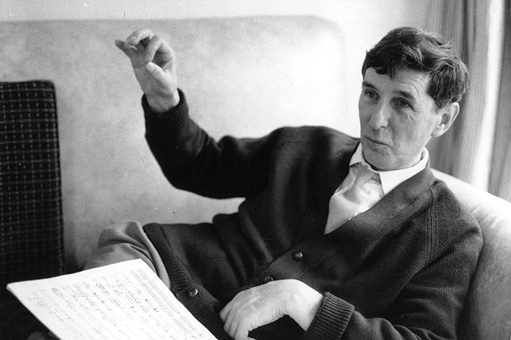 The composer sir Michael Tippett. Credit: Erich Auerbach/ Stringer