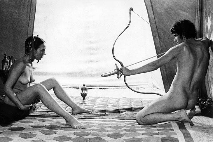 Bring me my arrow of desire: the original Italian film poster for Pasolini's 1974 Il Fiore delle Mille e Una Notte
