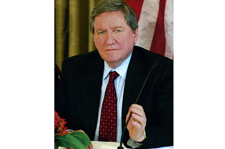 Richard Holbrooke as US special envoy for Afghanistan and Pakistan in New Delhi, April 2009, a year before his death