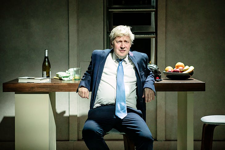 Eerily accurate: Will Barton as Boris Johnson in The Last Temptation of Boris Johnson. Image: Pamela Raith