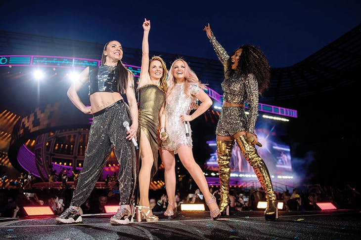 'We're not a group, we're a movement': the Spice Girls on stage in Coventry