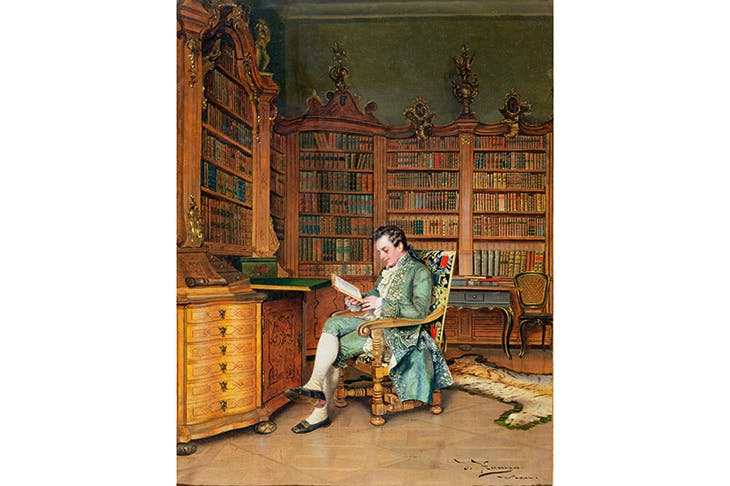 'The Bibliophile', by Johann Hamza (1850–1921)
