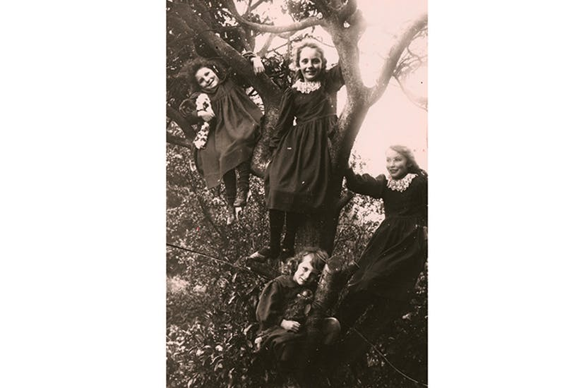 Growing up in the wooded hills round Limpsfield, the girls climbed trees, built huts, made fires and skinned rabbits