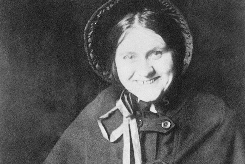 Maud West disguised as a Salvation Army worker, c. 1920