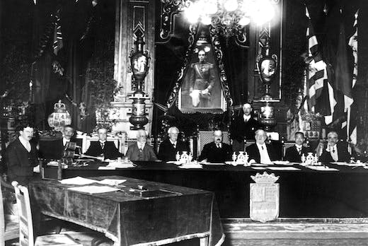 The first session of the Council of the League of Nations, 15th November 1920 Photo: Getty