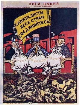A poster for The League of Nations, 1920. Found in the collection of the Russian State Library, Moscow. Photo: Getty