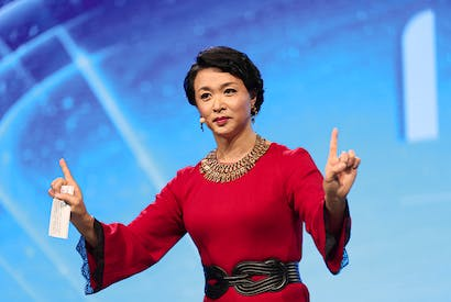 Jin Xing, one of China's most popular talk show hosts and a trans woman (Getty)