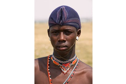 A warrior from the Samburu tribe following his rite of passage