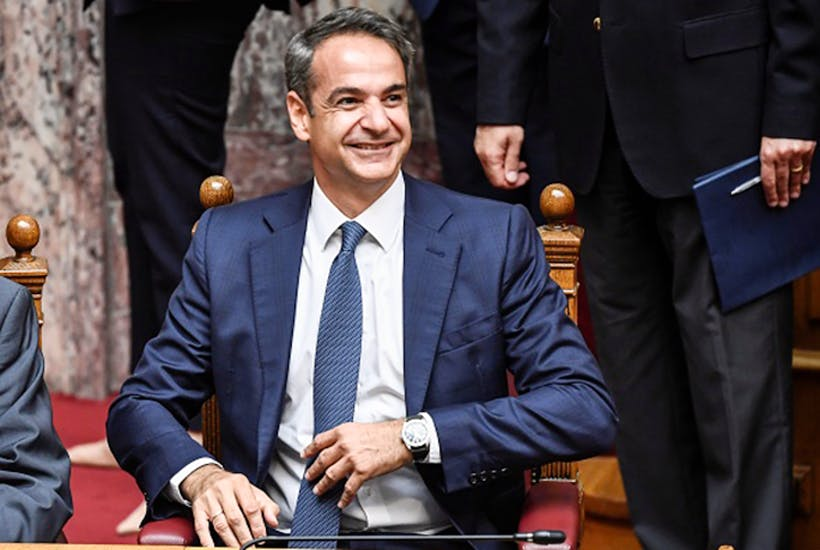 Greece's new Prime Minister Kyriakos Mitsotakis promises higher growth and lower taxes [Getty]